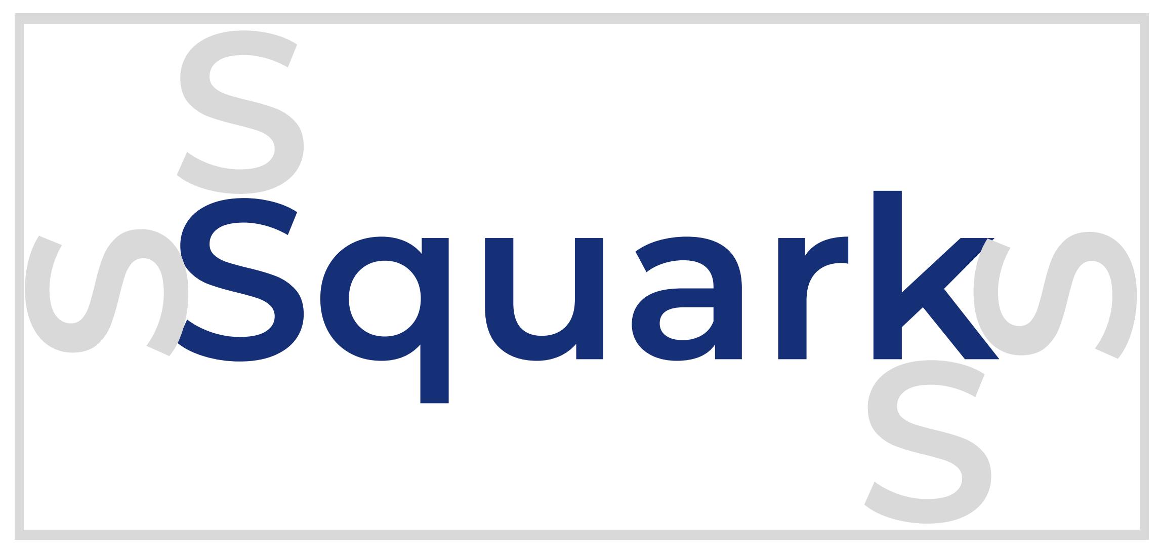 Exemple d'espacement obligatoire du logo Squark