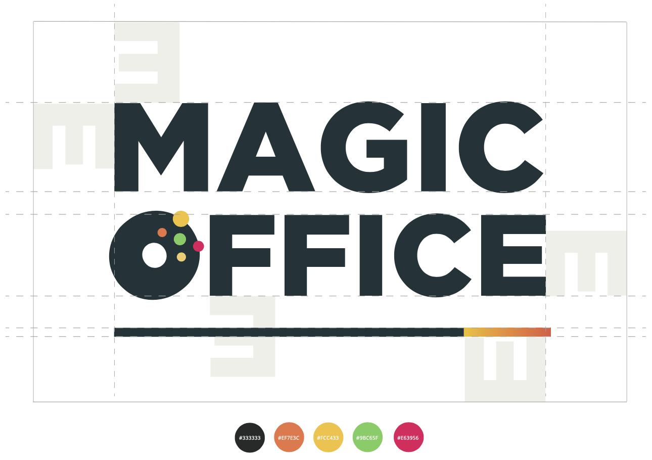 Exemple d'espacement obligatoire du logo Magic Office