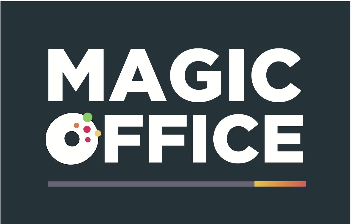 Exemple d'utilisations du logo autorisé Magic Office